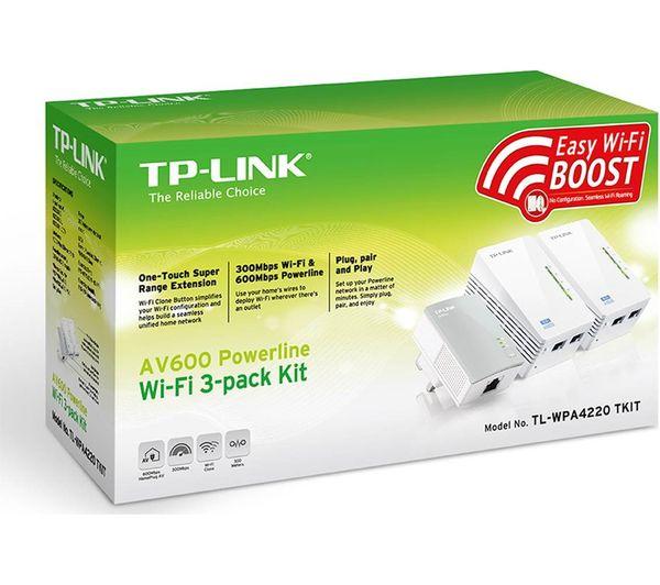 buy tp link tl wpa4220t wifi powerline adapter kit av600. Black Bedroom Furniture Sets. Home Design Ideas