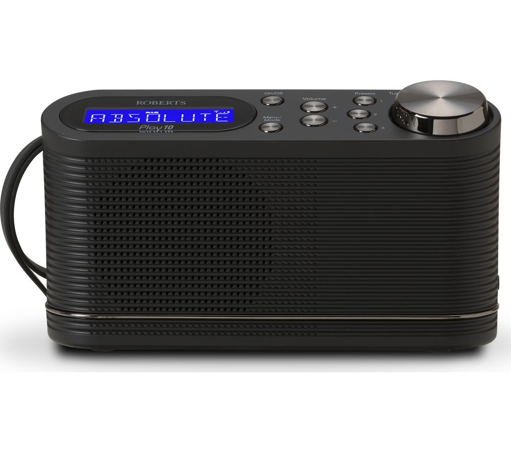ROBERTS PLAY10 Portable DAB+/FM Radio - Black