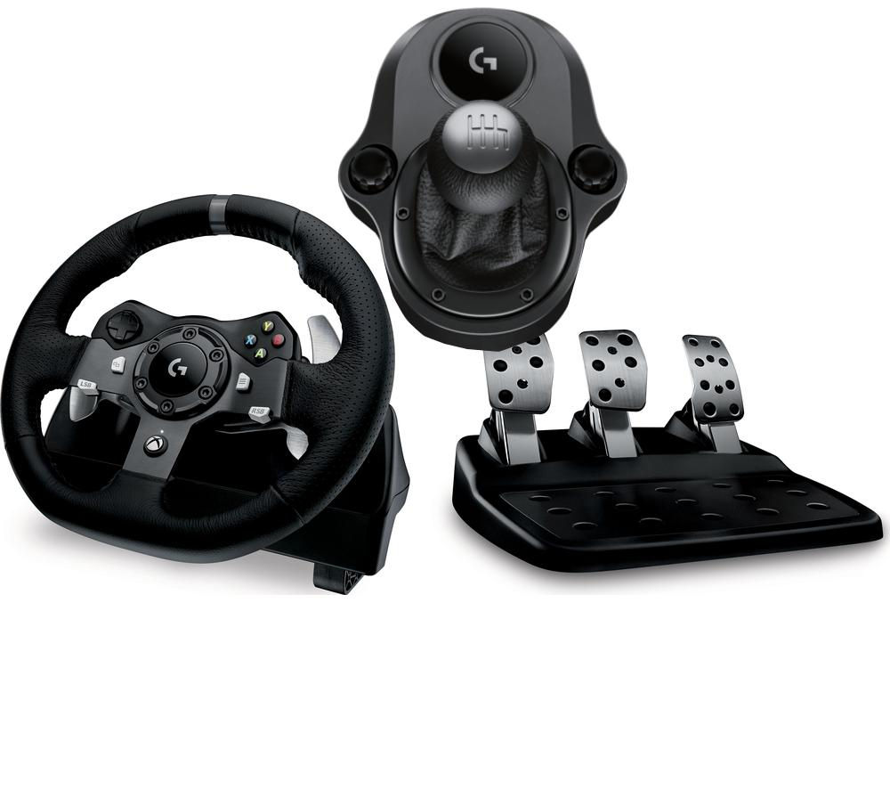 b6527459b9f Buy LOGITECH Driving Force G920 Wheel & Gearstick Bundle | Free Delivery |  Currys