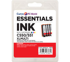 ESSENTIALS PGI 550XL & 551XL 4-colour Canon Ink Cartridges - Multipack