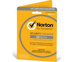 NORTON Security 2018 - 1 year for 10 devices