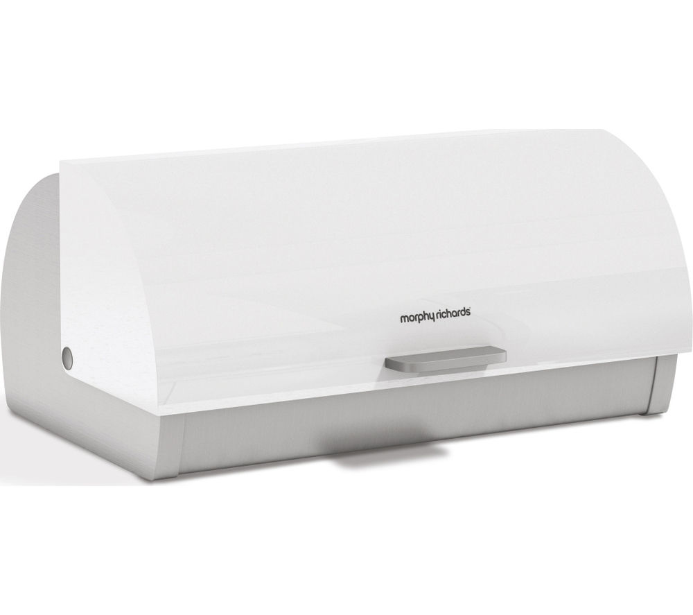MORPHY RICHARDS Roll Top Bread Bin - White