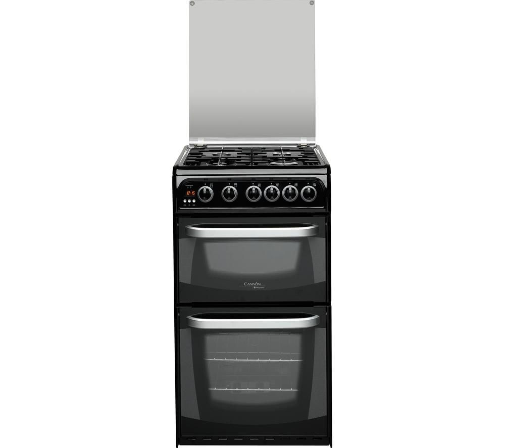 Image of HOTPOINT CH50GCIK0 Gas Cooker - Black, Black