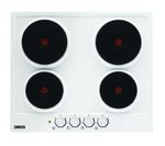 ZANUSSI ZEE6940FWA Electric Solid Plate Hob - White