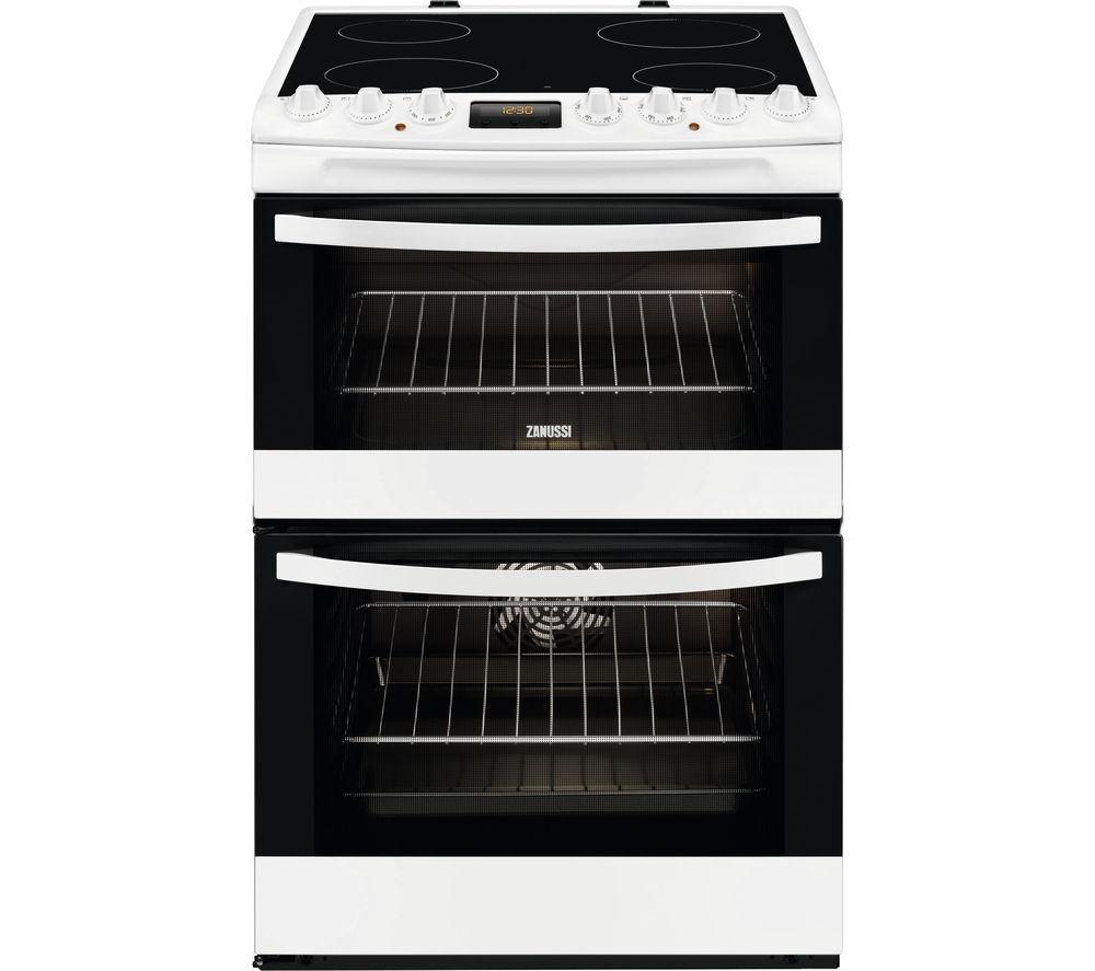 ZANUSSI ZCV68330WA 60 cm Electric Ceramic Cooker - White