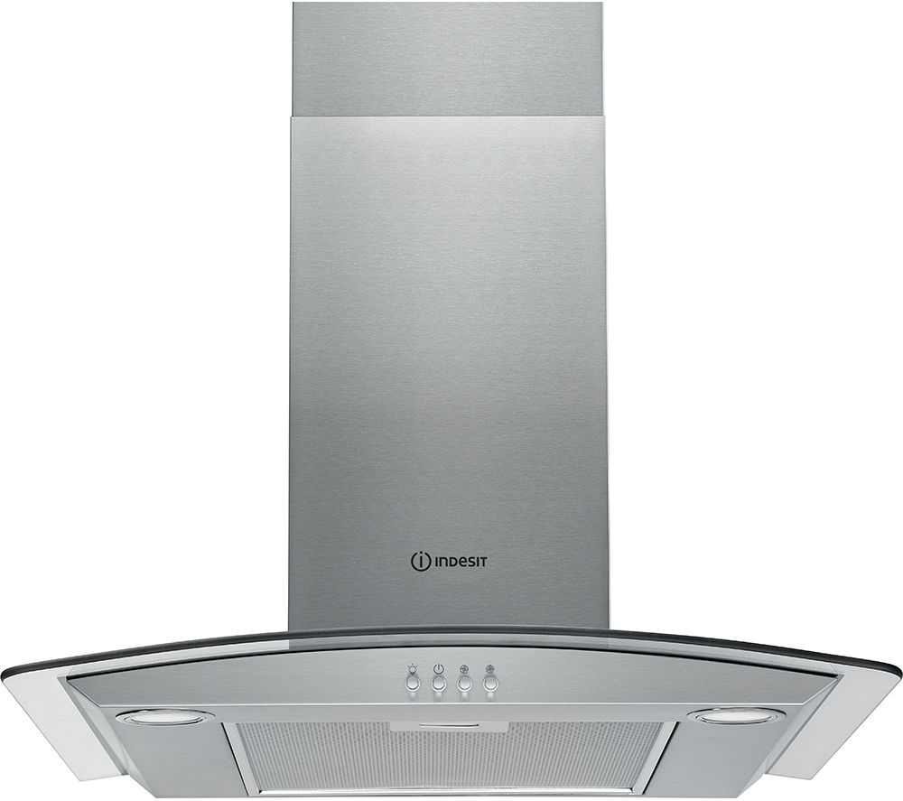 INDESIT IHGC 6.4 AM X Chimney Cooker Hood - Stainless Steel