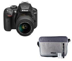 NIKON D3400 DSLR Camera with DX 18-55 mm f/3.5-5.6 VR Lens