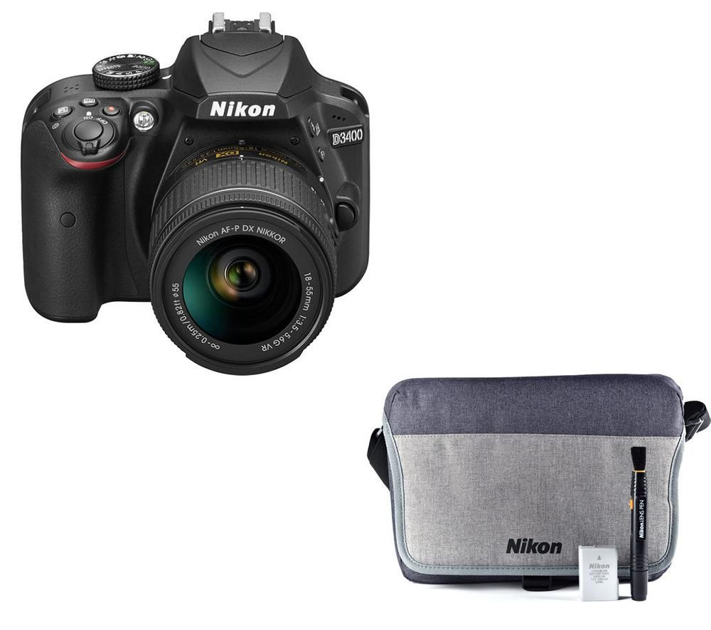 NIKON D3400 DSLR Camera with 18-55 mm f/3.5-5.6 Lens & Accessory Bundle