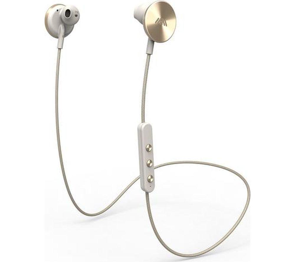 IAM+ Buttons Wireless Bluetooth Headphones - Gold
