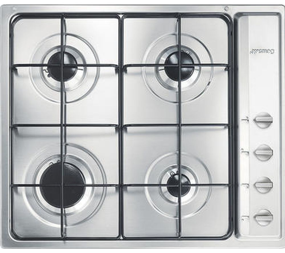 Buy SMEG S64S Gas Hob - Stainless Steel | Free Delivery | Currys