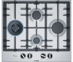 BOSCH Serie 6 PCI6A5B90 Gas Hob - Stainless Steel