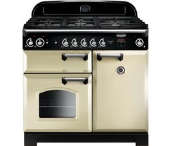 RANGEMASTER Classic 100 Gas Range Cooker - Cream & Chrome