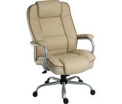 TEKNIK Goliath Duo Bonded Leather Reclining Executive Chair - Cream