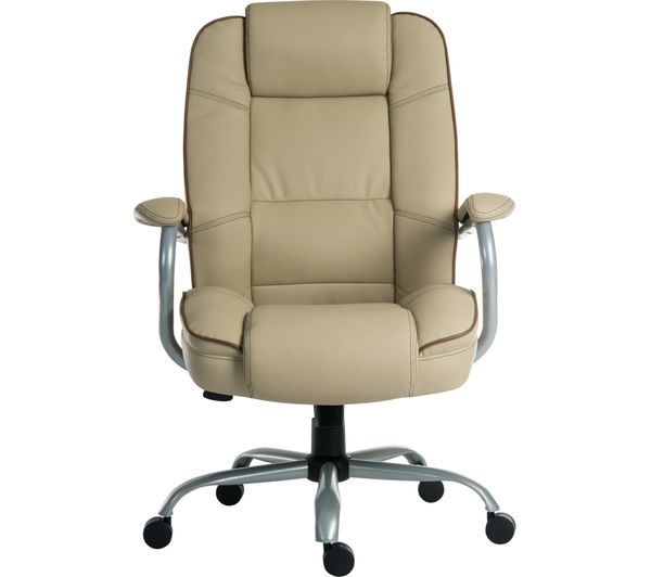 Buy teknik goliath duo bonded leather reclining executive for Cream office chair