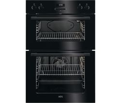 AEG DEE431010B Electric Double Oven - Black