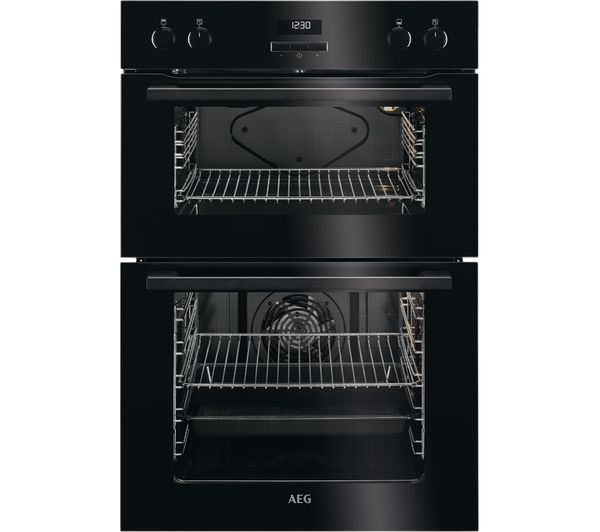Image of AEG DEE431010B Electric Double Oven - Black