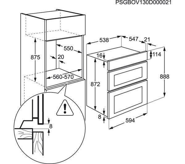 Buy Aeg Dee431010b Electric Double Oven
