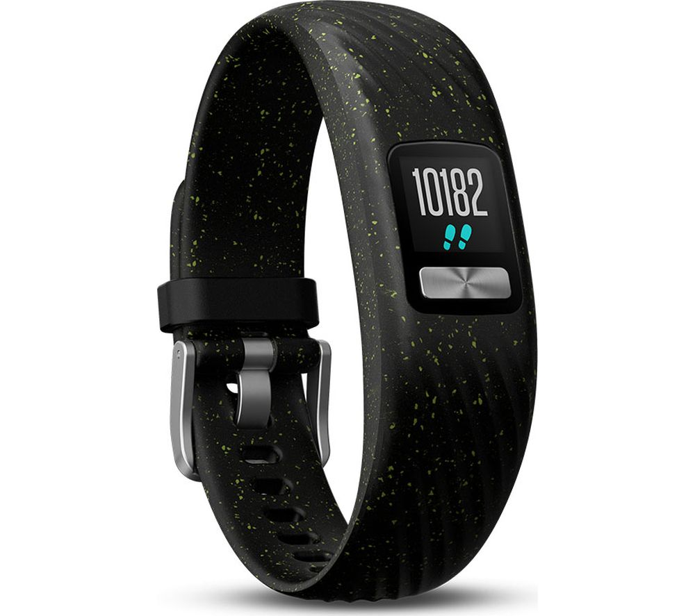 GARMIN Vivofit 4 Fitness Tracker - Black Speckled, Small/Medium, Black