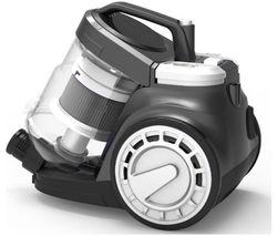 RUSSELL HOBBS RHCV3011 Cylinder Bagless Vacuum Cleaner - White & Grey
