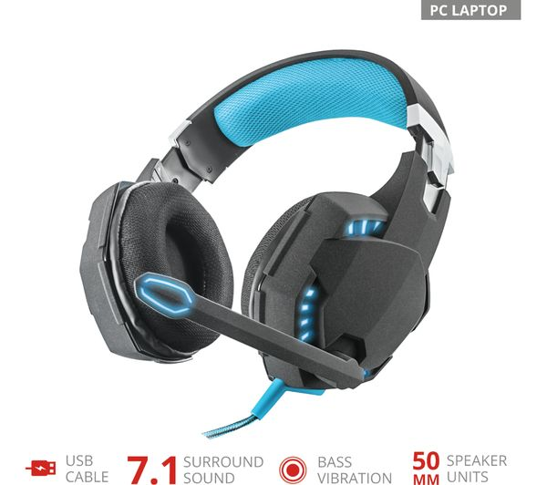 3105280e556 Buy TRUST GTX 363 Hawk Bass Vibration 7.1 Gaming Headset - Black ...