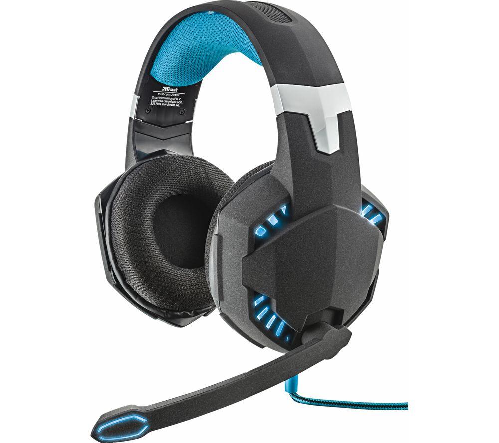 f0c4fc2071b Buy TRUST GTX 363 Hawk Bass Vibration 7.1 Gaming Headset - Black | Free  Delivery | Currys