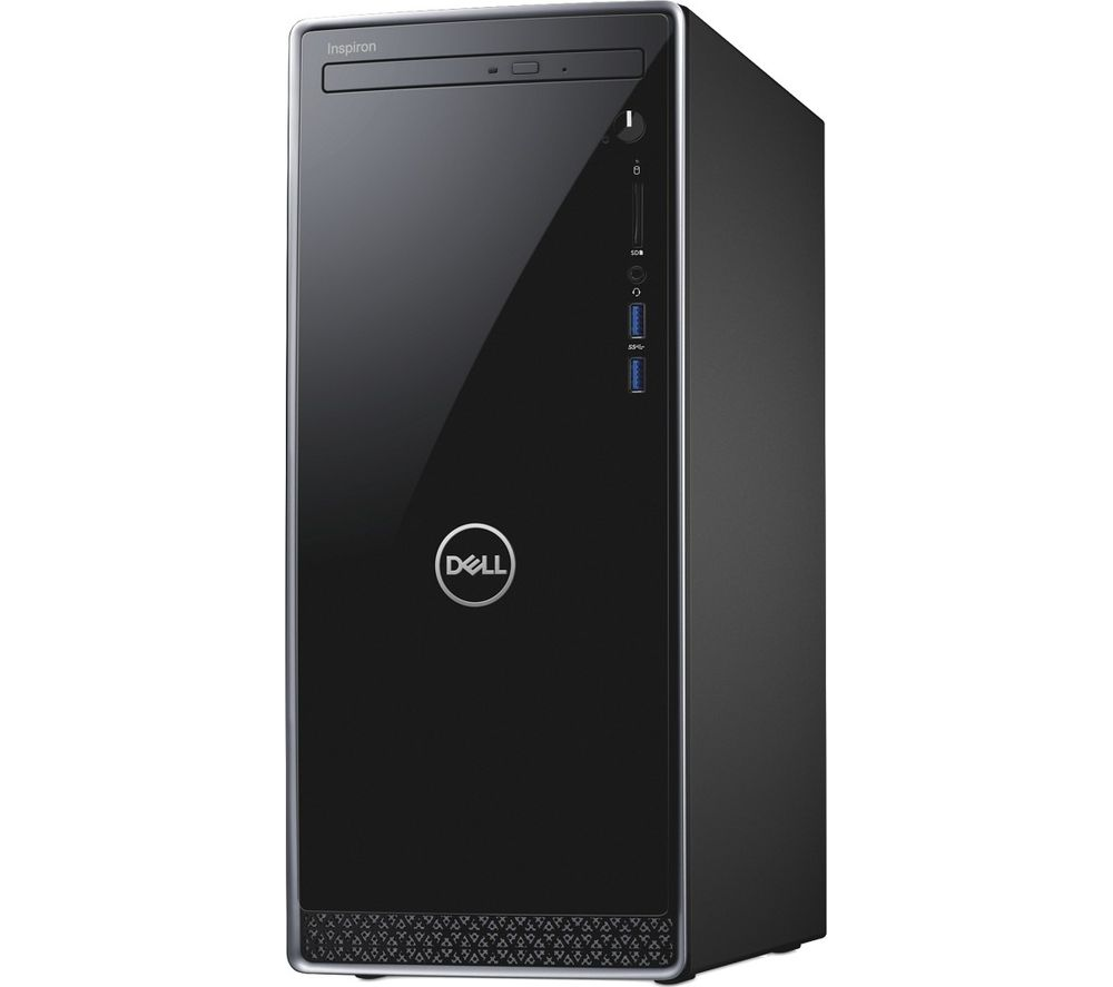DELL Inspiron Intel® Core™ i3 Desktop PC - 1 TB HDD, Black + Office 365 Personal - 1 year for 1 user