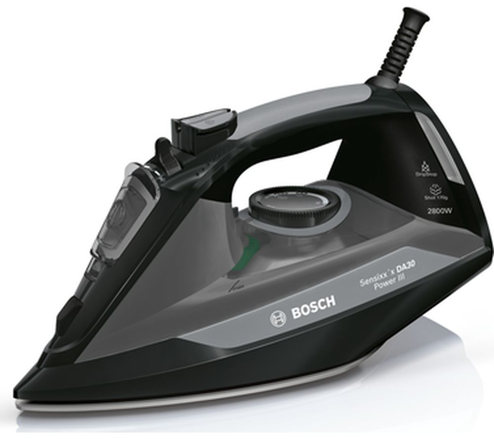 BOSCH Sensixxs DA30 Power III TDA3020GB Steam Iron - Black, Black