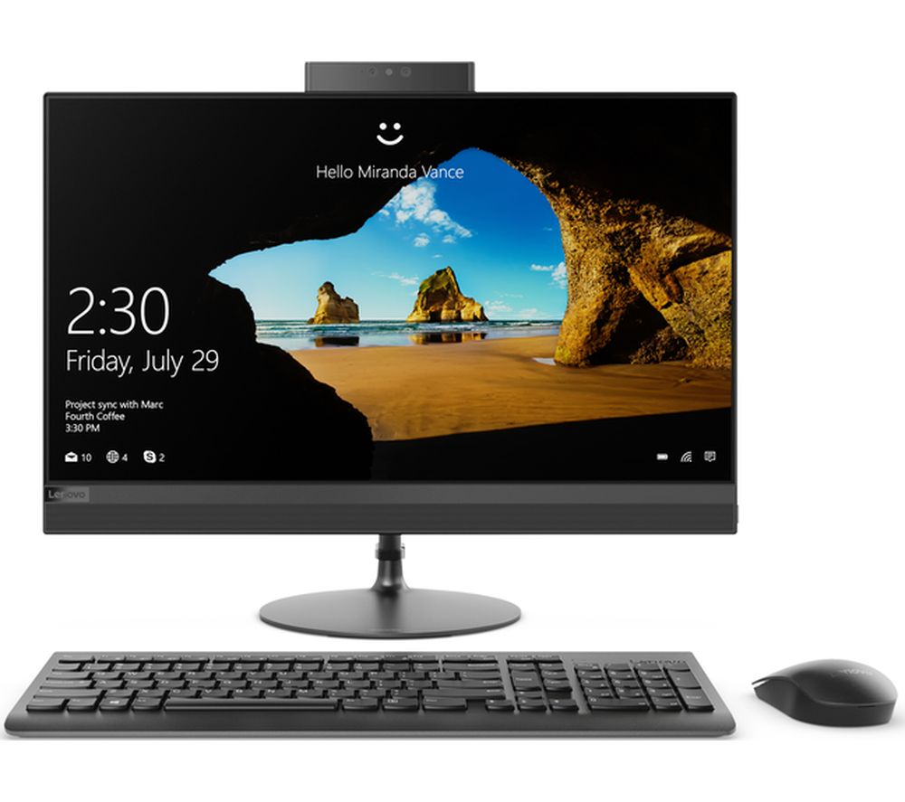"LENOVO 520-24ICB 23.8"" Intel® Core™ i5+ All-in-One PC - 1 TB HDD, Black"