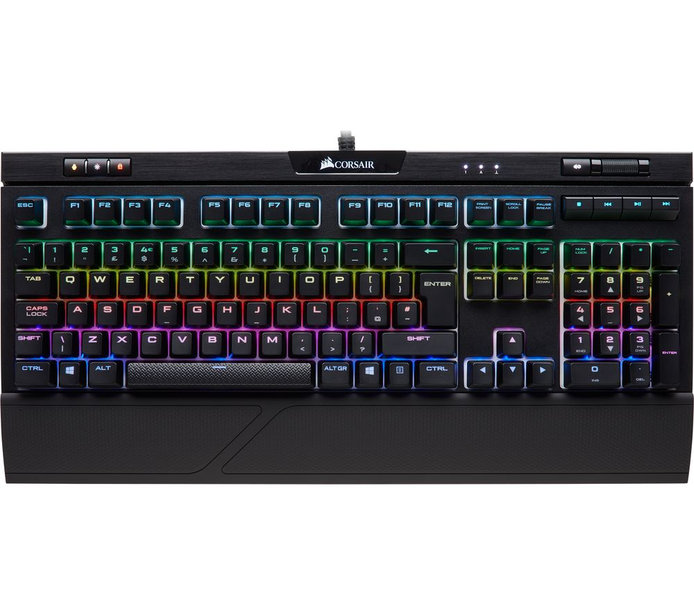 c83d620d86b CORSAIR STRAFE RGB MK.2 Mechanical Gaming Keyboard - Red Switches Deals |  PC World