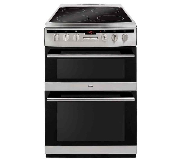 Image of AMICA AFC6550SS 60 cm Electric Ceramic Cooker - Stainless Steel