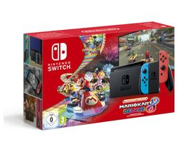 NINTENDO Switch Neon Red with Mario Kart 8 Deluxe