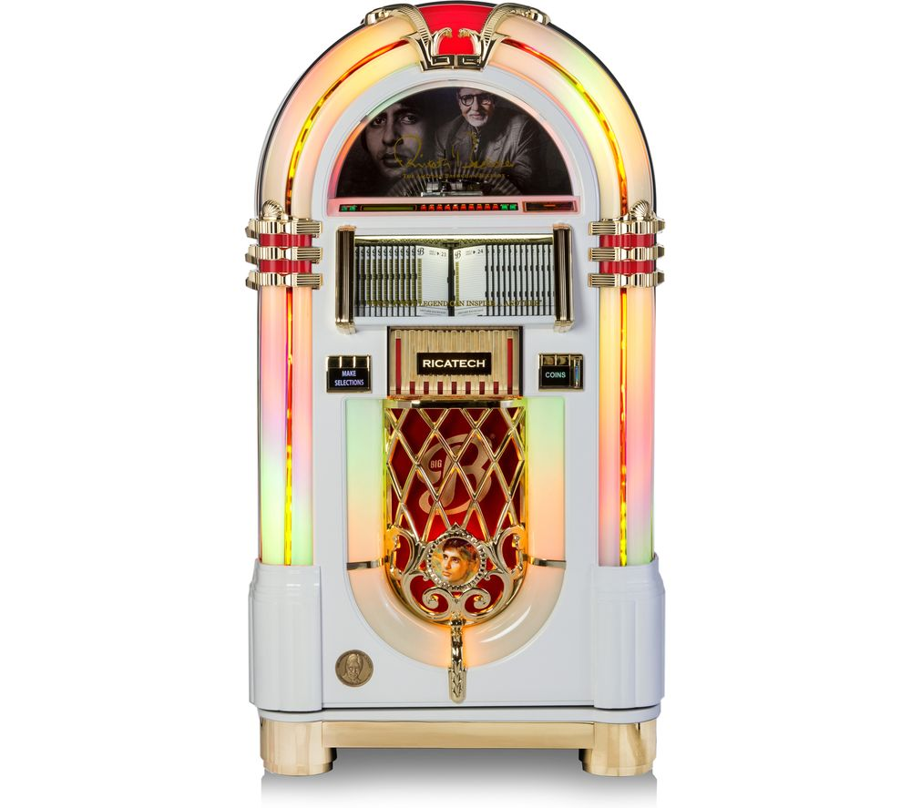 RICATECH Amitabh Bachchan Jukebox - Limited Edition, White & Gold