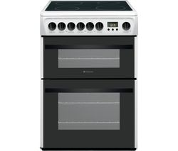 HOTPOINT DCN60P.1 60 cm Electric Ceramic Cooker - White Best Price, Cheapest Prices