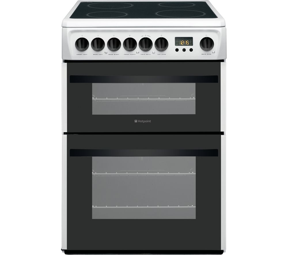 HOTPOINT DCN60P 60 cm Electric Ceramic Cooker - White, White