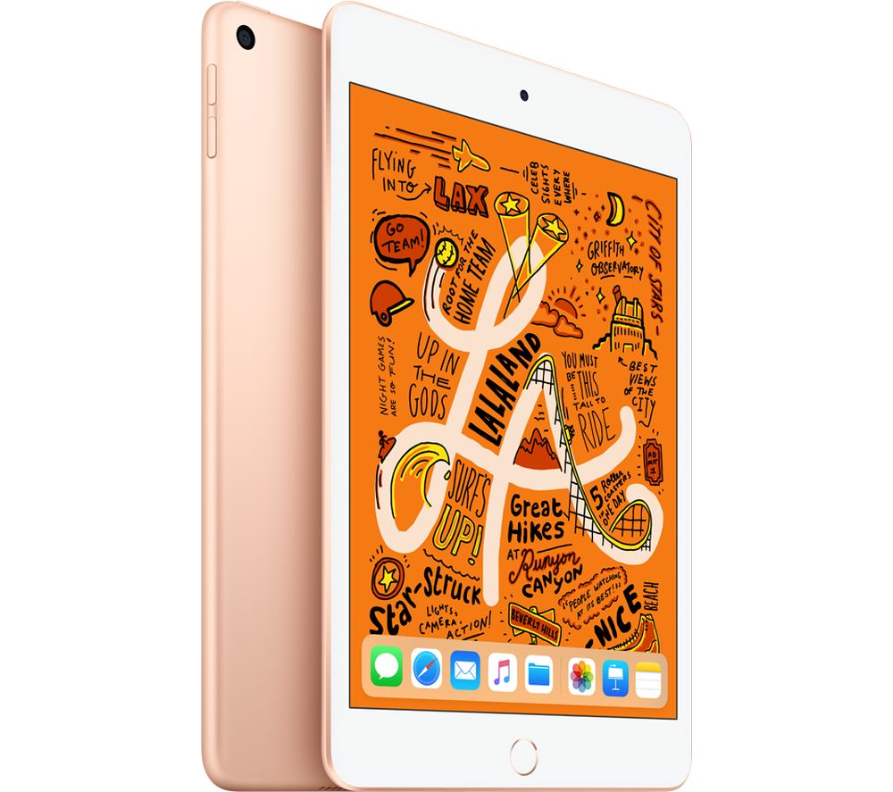 "Image of APPLE 7.9"" iPad mini 5 (2019) - 256 GB, Gold, Gold"