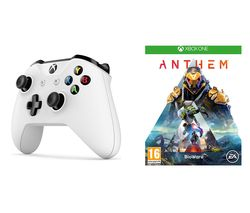 XBOX ONE Anthem & Xbox Wireless Controller Bundle - White