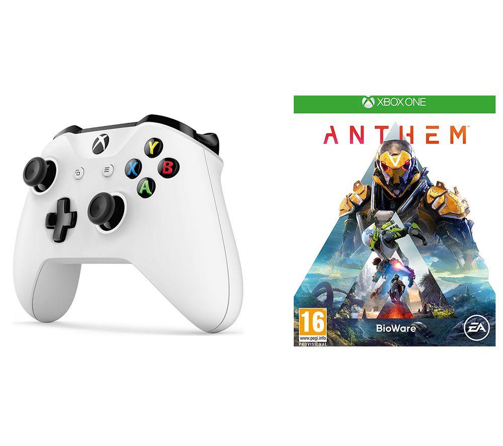 MICROSOFT Anthem & Xbox Wireless Controller Bundle - White, White