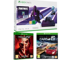 MICROSOFT Special Edition Xbox One S, Fortnite, Tekken 7 & Project Cars 2 Bundle