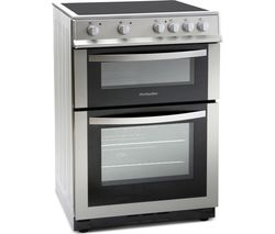 MONTPELLIER MDC600FS 60 cm Electric Ceramic Cooker - Silver Best Price, Cheapest Prices