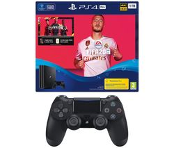 SONY Playstation 4 Pro with FIFA 20 & DualShock Controller Bundle - 1 TB