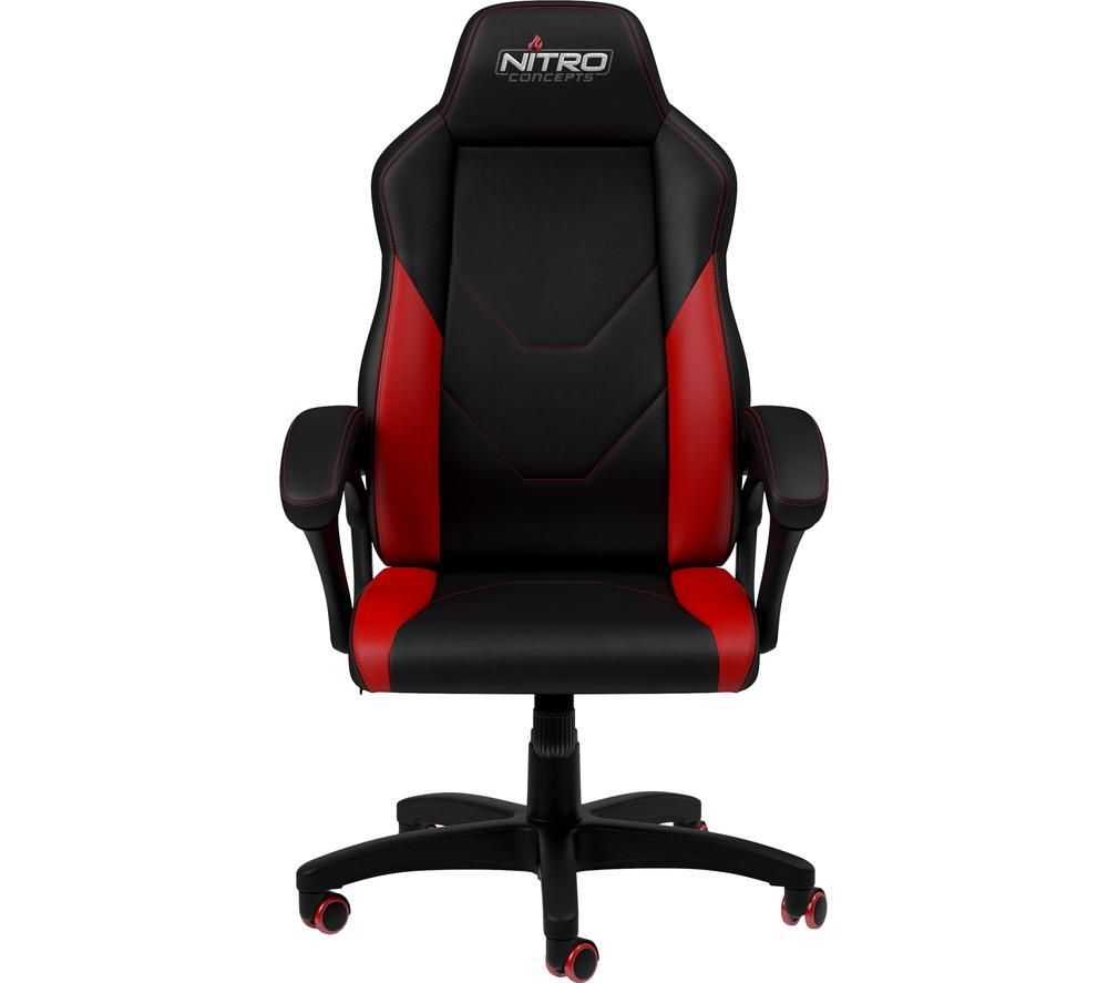Image of C100 Gaming Chair - Black & Red, Black