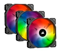 iCUE SP Series 120 mm Case Fan with Lighting Node CORE - Pack of 3, RGB LED