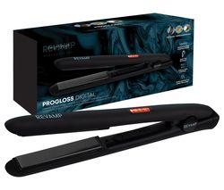 REVAMP Progloss Digital Hair Straightener - Matte Black