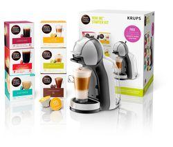 by Krups Mini Me KP123B41 Coffee Machine Starter Kit - Grey & Black
