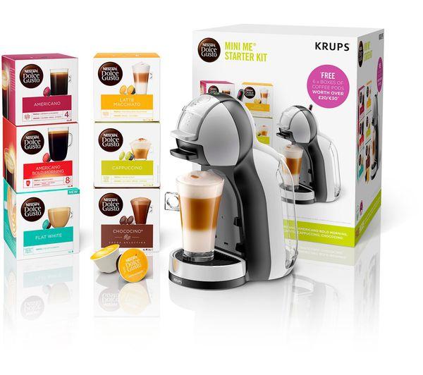 Image of DOLCE GUSTO by Krups Mini Me KP123B41 Coffee Machine Starter Kit - Grey & Black
