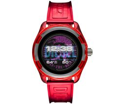Image of DIESEL Fadelite DZT2019 Smartwatch - Red, Plastic Strap, 43 mm