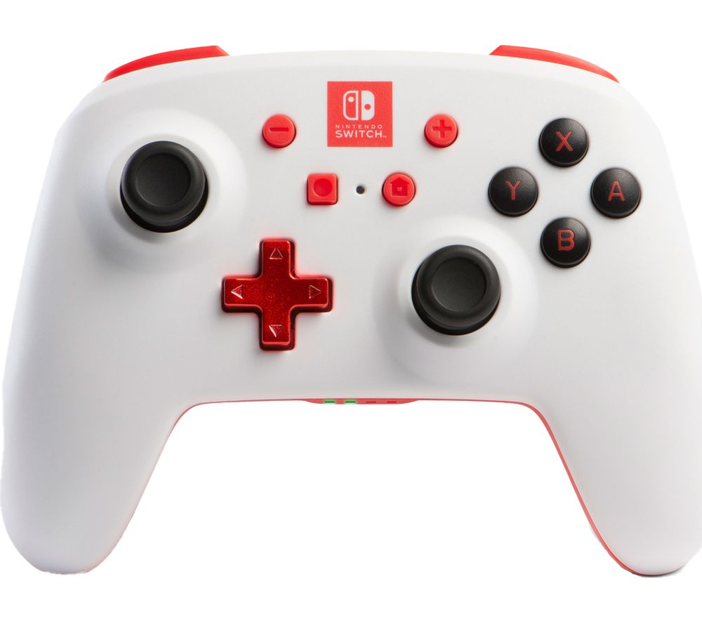 POWERA Nintendo Switch Enhanced Wireless Controller - White & Red, White