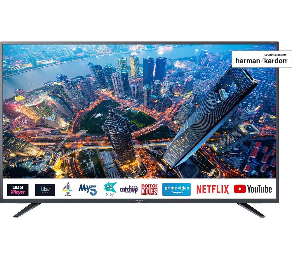 """Image of 55"""" SHARP 4T-C55BJ4KF2FB Smart 4K Ultra HD HDR LED TV"""