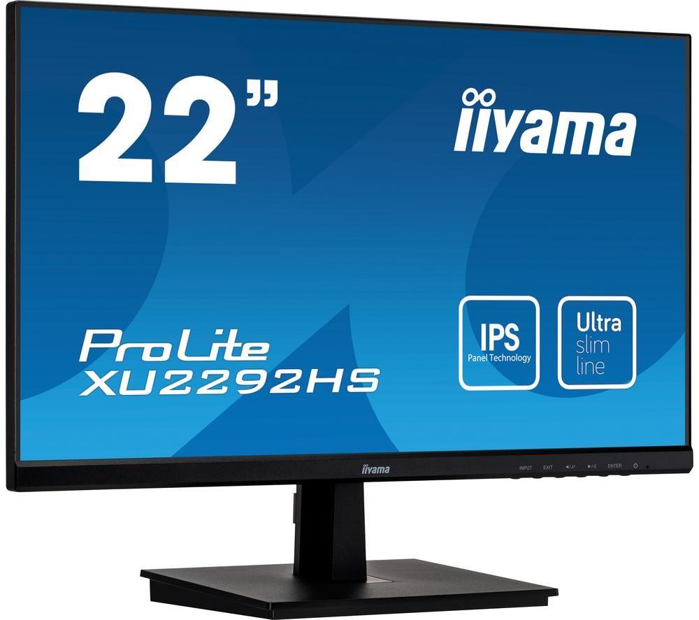 Image of IIYAMA ProLite XU2292HS-B1 22' Full HD LCD IPS Monitor - Black, Black