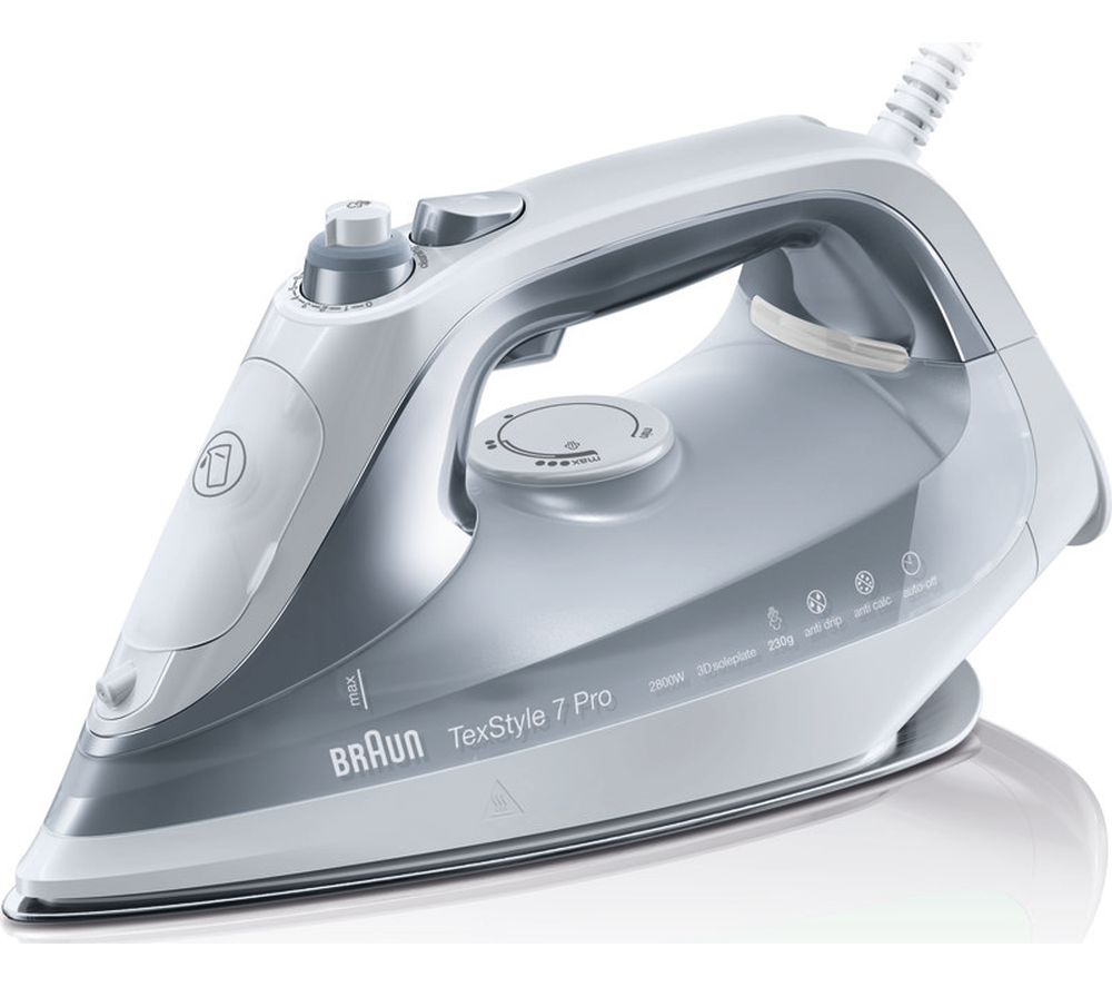 Image of BRAUN TexStyle 7 Pro SI7088GY Steam Iron - Grey, Braun